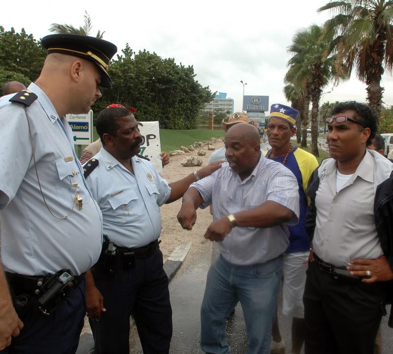 Protesten op Curaçao